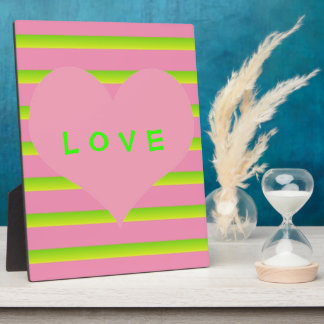 Pink And Lime Love Plaques