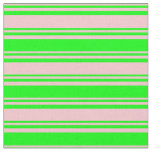 [ Thumbnail: Pink and Lime Pattern of Stripes Fabric ]