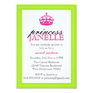 Pink and Lime - Sweet 16 Invitation