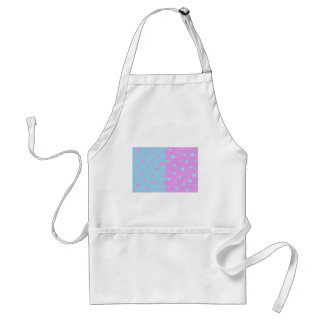 Pink and Lite Blue with Hearts Adult Apron
