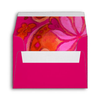 Pink and Magenta Floral RSVP Envelope