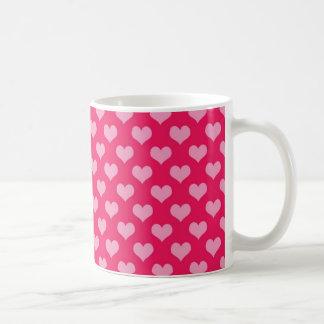 Pink and Magenta Heart Pattern Coffee Mug