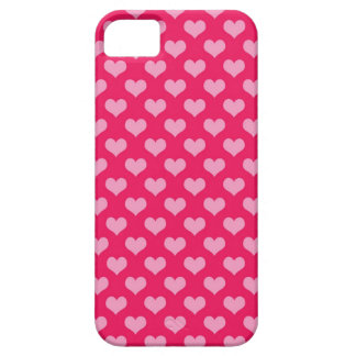 Pink and Magenta Heart Pattern iPhone SE/5/5s Case