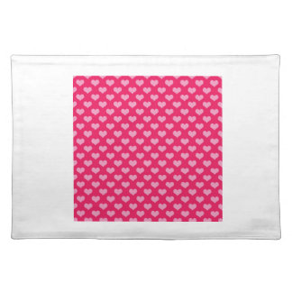 Pink and Magenta Heart Pattern Placemat