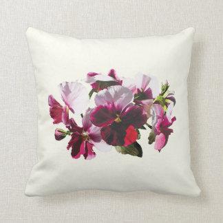 Pink and Magenta Pansies Pillows