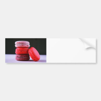 Pink and Magenta Stack of French Macaron Cookies Bumper Sticker