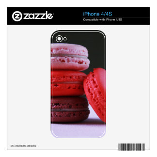 Pink and Magenta Stack of French Macaron Cookies iPhone 4S Skin