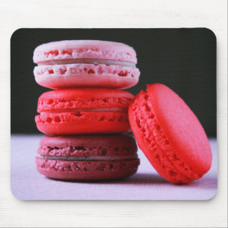 Pink and Magenta Stack of French Macaron Cookies Mouse Pad