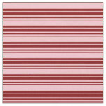 [ Thumbnail: Pink and Maroon Lined Pattern Fabric ]