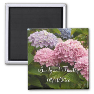 Pink and Mauve Hydrangea Save the Date Magnet