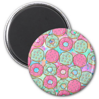 PINK AND MINT COOKIES DONUT SPRINKLE CRUSH MAGNET