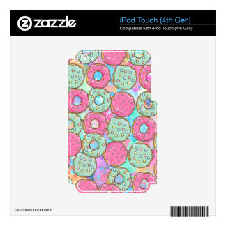 PINK AND MINT COOKIES DONUT SPRINKLE CRUSH SKINS FOR iPod TOUCH 4G