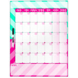 Pink and Mint Green - Dry Erase Calendar Board Dry Erase Whiteboards