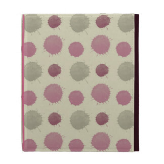 Pink and Mint Painted Abstract iPad Case
