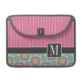 Pink and Mint Retro Sleeve For MacBook Pro
