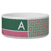 Pink and Mint Retro Pattern Bowl