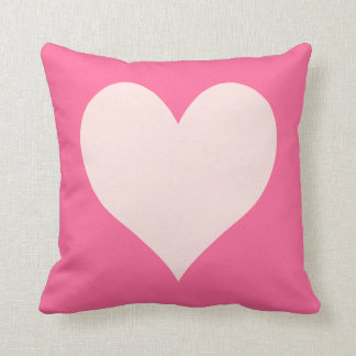 Pink and Misty Rose Heart Throw Pillow