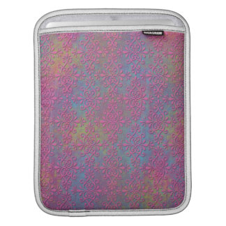 Pink and Multicolored Damask Abstract iPad Sleeves