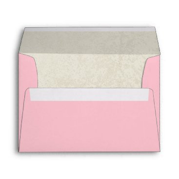 Beach Themed Pink and Natural Sandtone Envelope