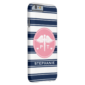 PINK AND NAVY STRIPE PHYSICAL THERAPY PT BARELY THERE iPhone 6 CASE