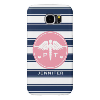 PINK AND NAVY STRIPE PHYSICAL THERAPY PT SAMSUNG GALAXY S6 CASE