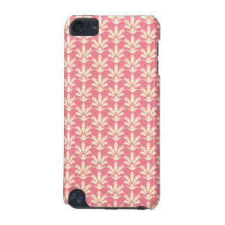 Pink and Off-white Floral Damask Pattern iPod Touch 5G Covers