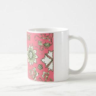 Pink and Olive Doodle Mug