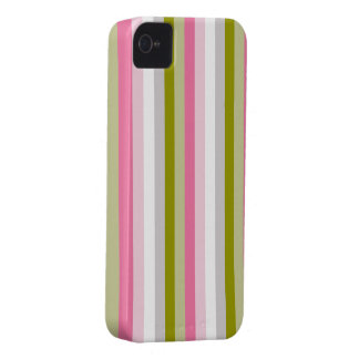 pink and olive green stripes iPhone 4 Case-Mate case