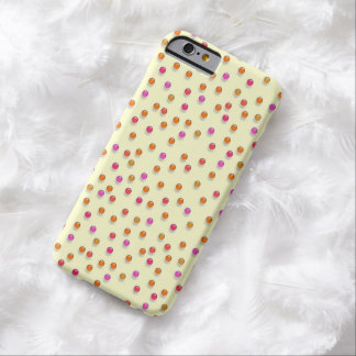 Pink And Orange 3D Confetti iPhone 6 Case