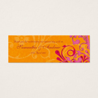 Pink and Orange Abstract Floral Favour Tags