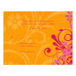 Pink and Orange Abstract Floral Response Card Invite