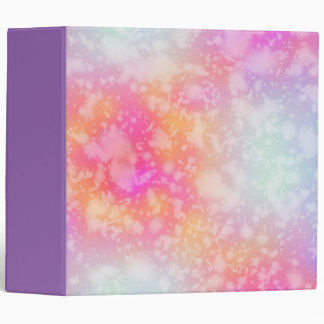 Pink and Orange Abstract Watercolor Background Binder