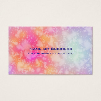 Pink and Orange Abstract Watercolor Background Business Card