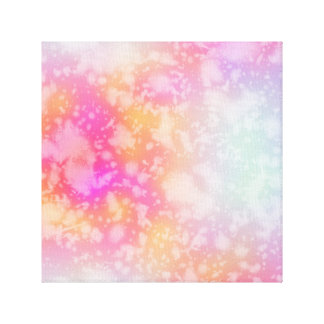 Pink and Orange Abstract Watercolor Background Canvas Print