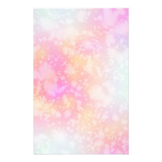Pink and Orange Abstract Watercolor Background Stationery