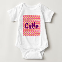 Pink and Orange Argyle Diamond Tile Pattern Gifts Baby Bodysuit