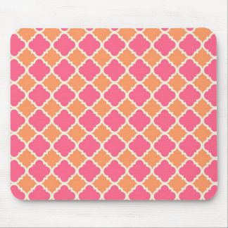 Pink and Orange Argyle Diamond Tile Pattern Gifts Mouse Pad