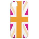 Pink and Orange British Flag iPhone 5 Cover