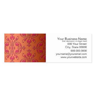 Pink and Orange Damask Mini Business Card
