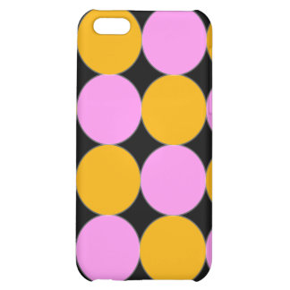 Pink and Orange Dots iPhone 5C Covers