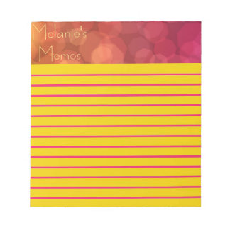 Pink and Orange Dreamy Bubbles Small Notepad