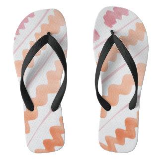 Pink and Orange Flip Flops
