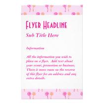 Pink and Orange Flower Pattern. Flyer