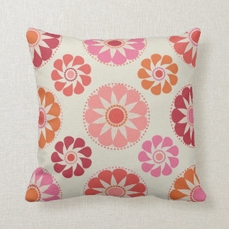 Pink and Orange Flowers MOJO Pillow