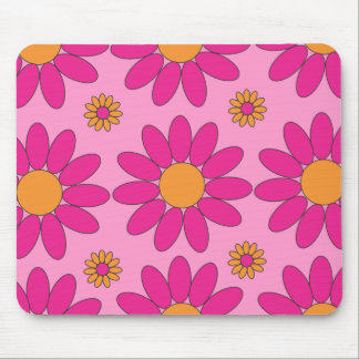 Pink and Orange Flowers Mousepad