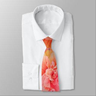 Pink and Orange Hibiscus Flowers Tie