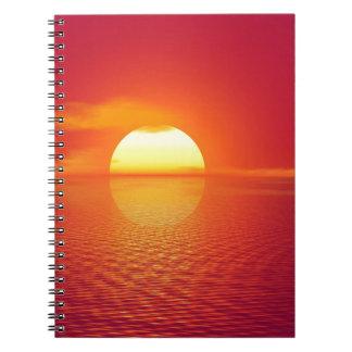 Pink and Orange Indian Ocean Sunset Spiral Notebook