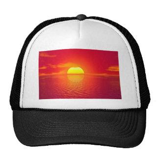 Pink and Orange Indian Ocean Sunset Trucker Hat