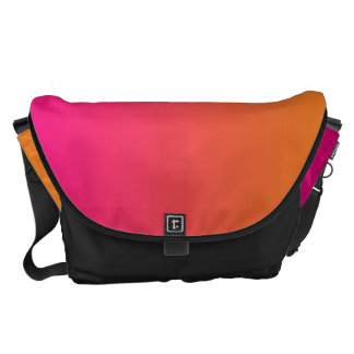 Pink And Orange Large Messenger Bag
