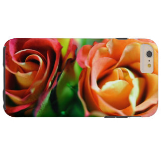 Pink and Orange Mini tea Roses iPhone 6 Case
